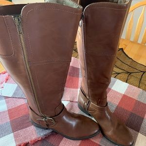Knee High Brown Boots.